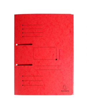 Cartellina 3 lembi  per raccoglitori con fori punchy rosso 447005