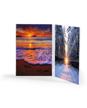 Portadepliant - portafoto in acrilico verticale doppia cm.10x15 LEBEZ 80409 8007509071687 80409