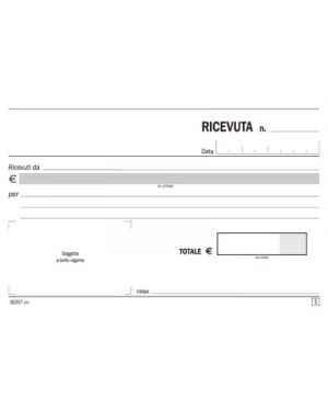BLOCCO RICEVUTE GENERICHE FLEX 50 FG. 2 COPIE CARTA CHIMICA 10 X 16,5 162570000