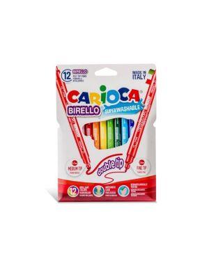 Pennarelli carioca birello 2 punte in scatola 12 pz CARIOCA 41457 8003511414573 41457