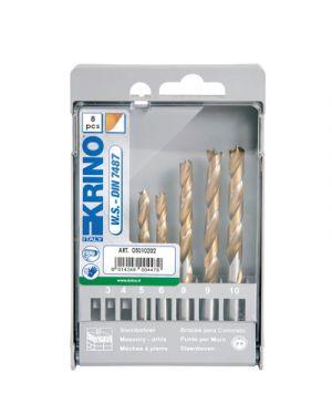 Punte trapano per legno profesional pz.8 assortite KRINO 5010207 8014249280910 5010207