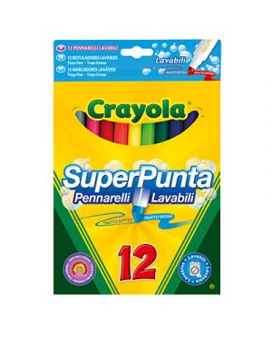 Pennarelli fibra crayola fine lavabile 12 CRAYOLA 7509 5010065075801 7509 by No