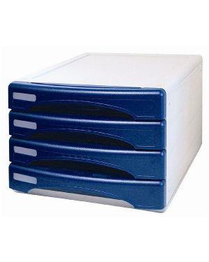 Cassettiera 4 cassetti azz opaco Arda 13P4PA 8003438713445 13P4PA