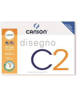 Album c2 4ang riquadrato 24x33 120g Canson 100500448A 8000484900355 100500448A by Canson