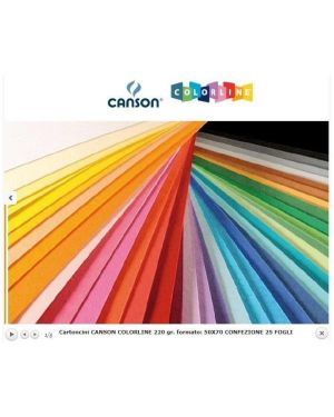 Ff colorline 50x70 220 bianco Canson 200041134 3148954226668 200041134