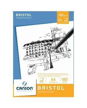 Blocco bristol 21x29 7 - a4 Canson 200005761 3148950057617 200005761 by Canson