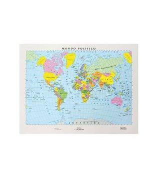 Cartina a4 mondo pol. - fisica CWR 9350 8004957093506 9350