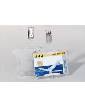 Cf2 portabadge rigido clip metallo 8118-19
