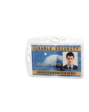 Conf. 10 portabadge rigido 5,4x8,5cm 8905-19 durable 8905-19 4005546807621 8905-19
