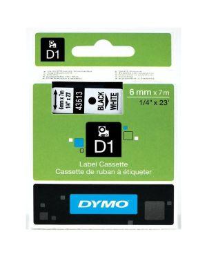 Nastro  d1 6mmx7m nero - bianco Dymo S0720780A 5411313436137 S0720780A by Dymo
