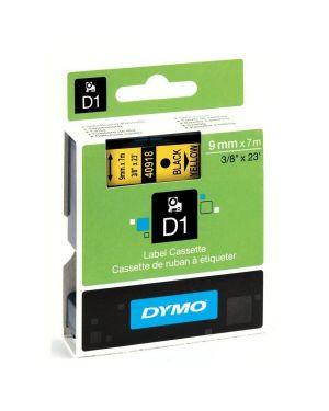 Nastro  d1 9mmx7m nero - giallo Dymo S0720730A 5411313409186 S0720730A by Dymo