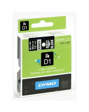 Nastro d1 12mmx7m bia - nero Dymo S0720610A 5411313450218 S0720610A by Dymo