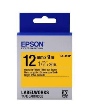 Nastro lk4ybp pastel ner - giall12x9 Epson C53S654008 8715946611235 C53S654008