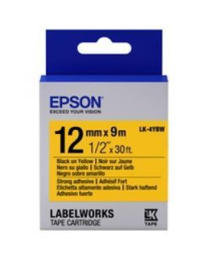 Tape - lk-4ybw strng adh blk- - y EPSON - LABELWORKS SUPPLIES S6 C53S654014 8715946611297 C53S654014 by Epson