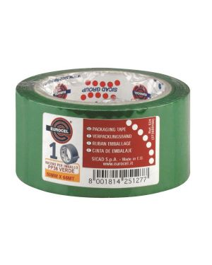Nastro adesivo 50mm x 66m verde pp36nn eurocel 6111366 8001814251277 6111366 by Eurocel