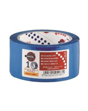 Nastro adesivo 50mm x 66m blu pp36nn eurocel 6114366 8001814251871 6114366 by Eurocel