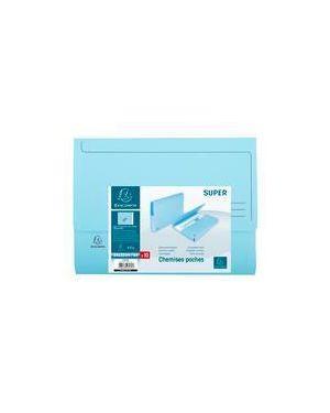 Conf.10 cartelle con tasca col.blu 47972E