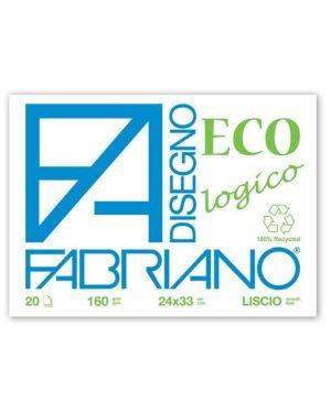 Blocco eco ruvido 24x33 160gr Fabriano 55502433  55502433 by Fabriano
