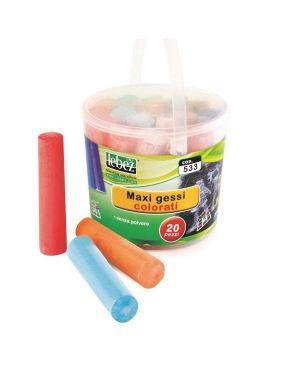 Maxi gessi colorati da 20 mm Lebez Cod. 533A 8007509031391 533A