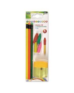 Set 3 matite  temperino  4 top Lebez 80353 8007509069141 80353