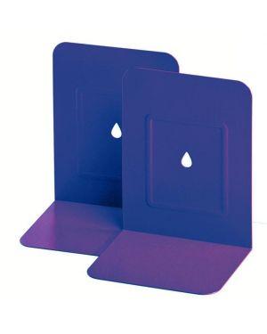 Coppia 2 reggilibri in metallo blu Lebez 088-BL 8007509055496 088-BL by Lebez