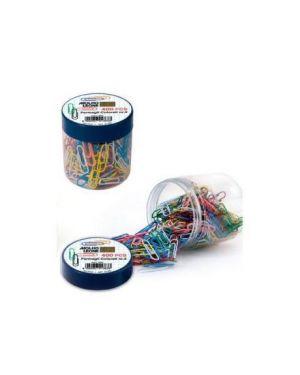 Fermagli in plastica colorati n.3 pz.400 in barattolo MOLHO LEONE 21263 8002057212636 21263