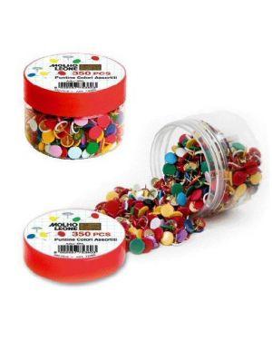 Puntine colorate pz.350 in barattolo MOLHO LEONE 75360 8002057753603 75360