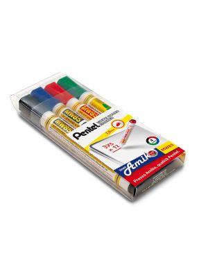 Taschetta 4 marcatore white board mw85 punta tonda amiko 100863 8006935008632 100863 by Pentel