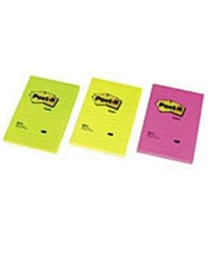 Post-it neon col ass 102x152 rig Post-it 40452 3134375255516 40452