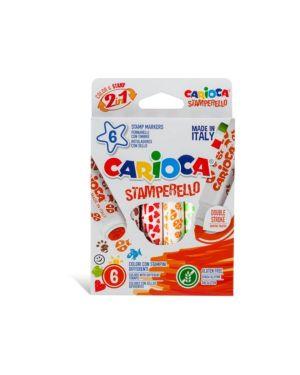 Pennarello carioca stamperello pz.6 CARIOCA 42279 8003511422790 42279 by No