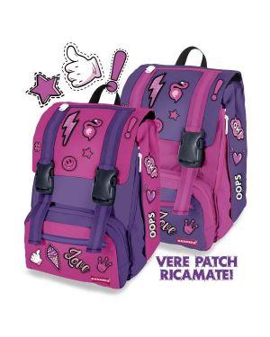Double backpack patch girl violet Carrera C401V 8053908142886 C401V