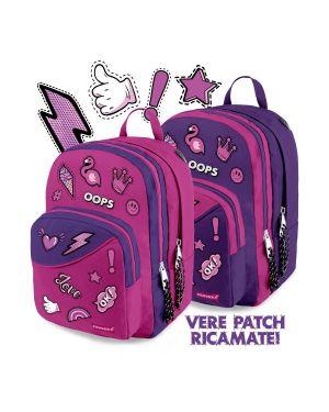 Round backpack patch girl violet Carrera C402V 8053908142916 C402V