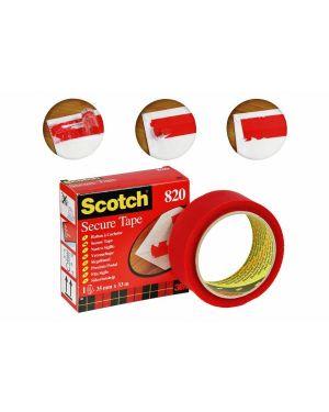 Adesivo 3m scotch secure tape antieffrazione 35x33 rosso 3M 93008 3134375014588 93008