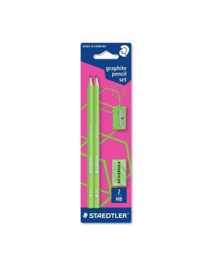 Set neon 2matite gomma temper verde Staedtler 180FSBK2P3 4007817613160 180FSBK2P3