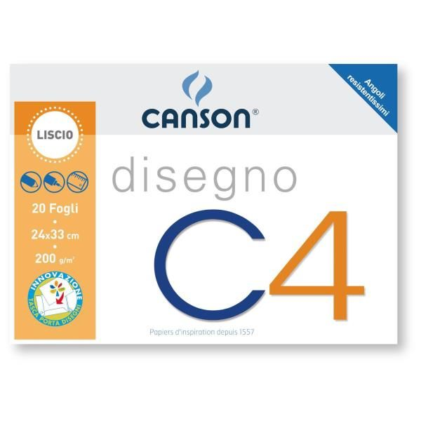 Album c4 4ang liscio 24x33cm 200g Canson 100500450 8000484900416 100500450 by Canson