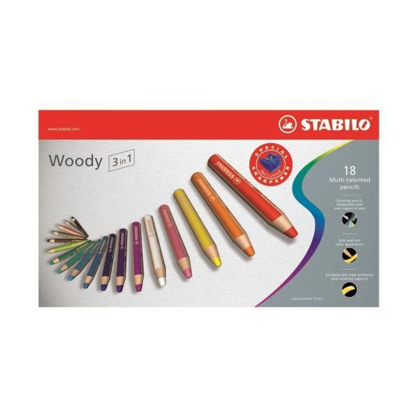 stabilo woody 3in1 colori ass Stabilo 880/18 4006381194907 880/18 by Stabilo