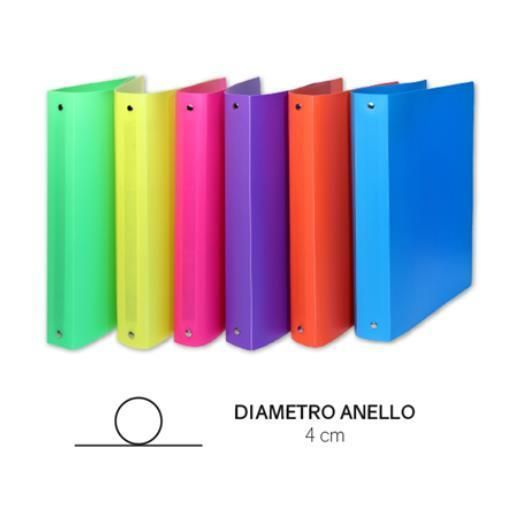 Racc.4anelli in pp dia.4cm col.fluo Scatto 309-ASS 8027217003091 309-ASS by No