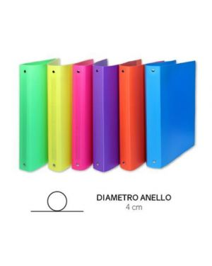 RACC.4ANELLI IN PP DIA.4CM COL.FLUO 309-ASS