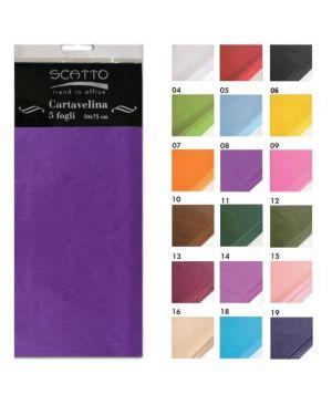 Conf 5 fg. carta velina col.blu Scatto 200-19 8027217020197 200-19 by No