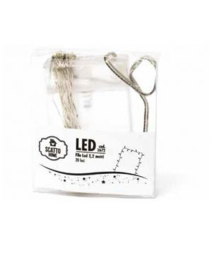 Filo di rame argentato 20 led Scatto 2672 8027217121986 2672