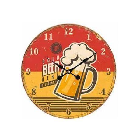 Orologio da muro beer  34cm Scatto 2713-H 8027217013946 2713-H by No