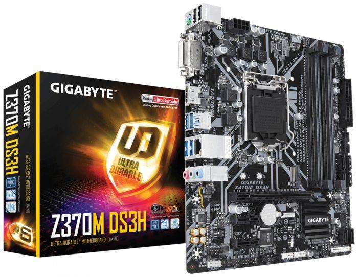 Z370m ds3h s1151v2 z370 matx GIGABYTE Z370M DS3H 4719331802622 Z370M DS3H by Gigabyte