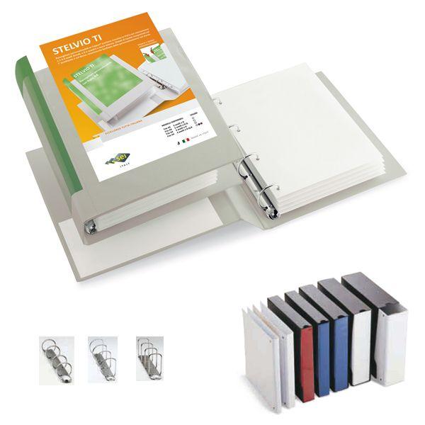 Raccoglitore stelvio ti 50 a4 4d 22x30cm bianco personalizzabile sei rota 36504101_25500 by Esselte